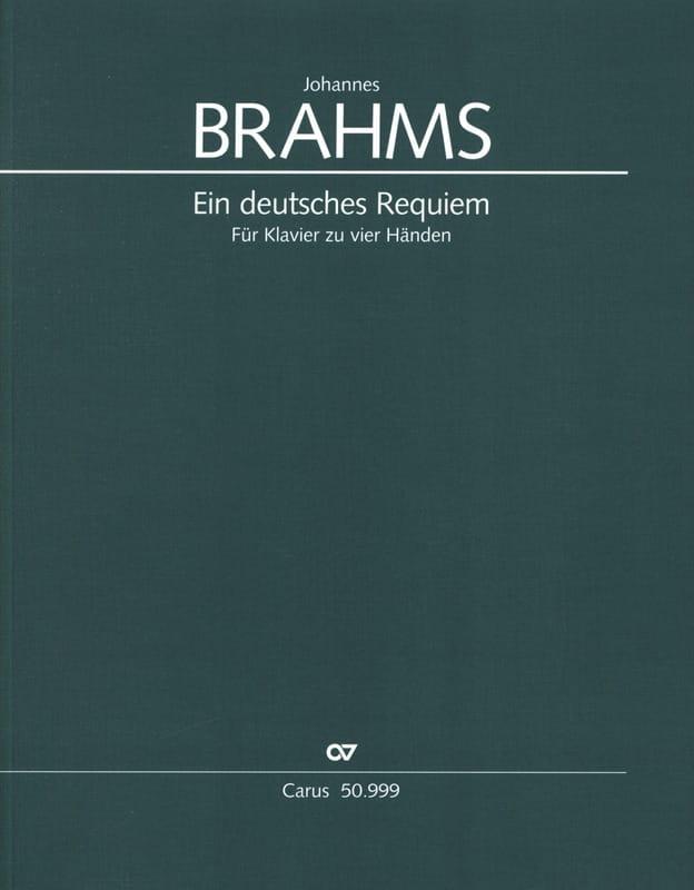 Ein Deutsches Requiem Opus 45. 4 Mains - BRAHMS - laflutedepan.com