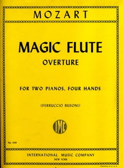 Magic Flute Overture. 2 Pianos MOZART Partition Piano - laflutedepan
