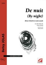 De Nuit (By Night) Betsy Jolas Partition Mélodies - laflutedepan