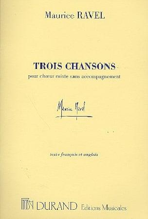3 Chansons RAVEL Partition Chœur - laflutedepan