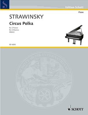 Circus Polka. 2 Pianos STRAVINSKY Partition Piano - laflutedepan