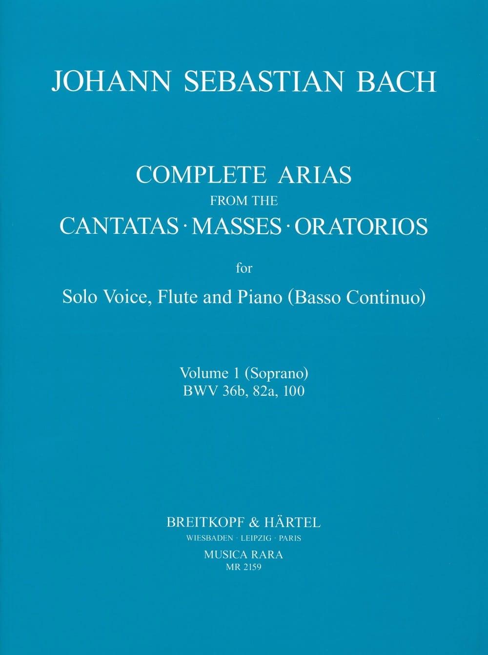 Complete arias from the cantatas, masses, oratorios Volume 1 - laflutedepan.com