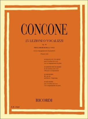 Giuseppe Concone - 25 Lessons Or Vocalises Opus 10 - Partition - di-arezzo.com