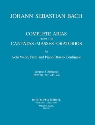 Complete arias from the cantatas, masses, oratorios Volume 3 laflutedepan
