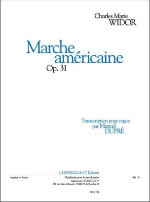Marche Américaine Opus 31 WIDOR Partition Orgue - laflutedepan
