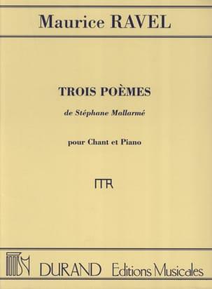 3 Poèmes de Mallarmé RAVEL Partition Mélodies - laflutedepan