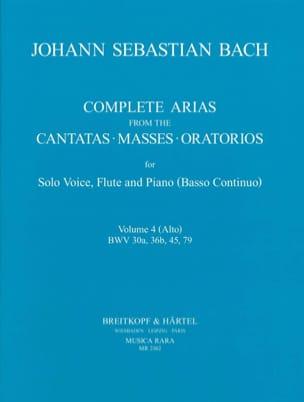 Complete arias from the cantatas, masses, oratorios Volume 4 laflutedepan