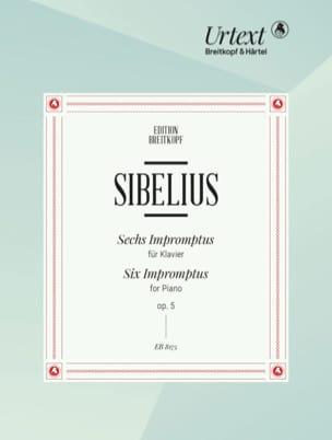 Jean Sibelius - 6 Impromptus Opus 5 - Partition - di-arezzo.com
