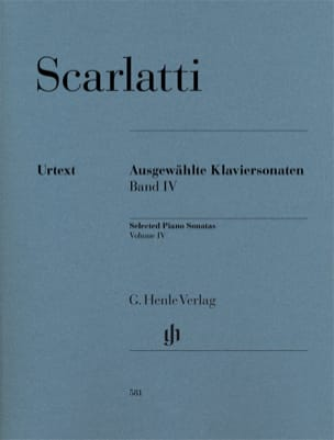 Sonates choisies pour clavier. Volume 4 SCARLATTI laflutedepan