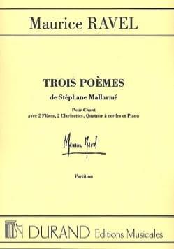 3 Poèmes de Mallarmé. Conducteur RAVEL Partition laflutedepan