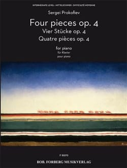 4 Pièces - Opus 4 PROKOFIEV Partition Piano - laflutedepan