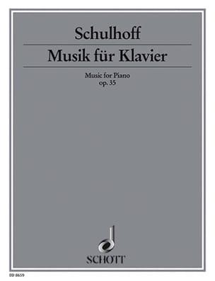 Musik Für Klavier Op. 35 Erwin Schulhoff Partition laflutedepan