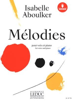Mélodies pour voix et piano Isabelle Aboulker Partition laflutedepan