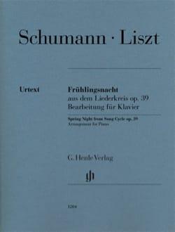 Frühlingsnacht Schumann Robert / Liszt Franz Partition laflutedepan