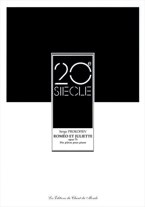10 Pièces de Roméo et Juliette Opus 75 - PROKOFIEV - laflutedepan.com