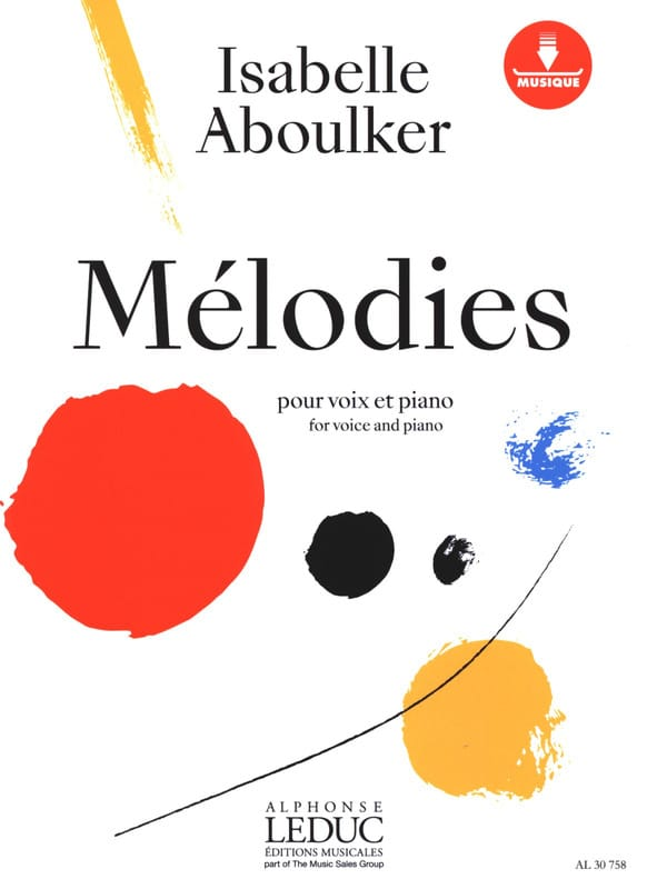 Mélodies pour voix et piano - Isabelle Aboulker - laflutedepan.com