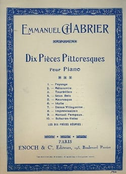 Scherzo-Valse CHABRIER Partition Piano - laflutedepan