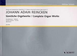 Sämtliche Orgelwerke Johann Adam Reincken Partition laflutedepan
