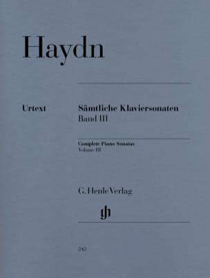 Sonates Complètes Volume 3 HAYDN Partition Piano - laflutedepan