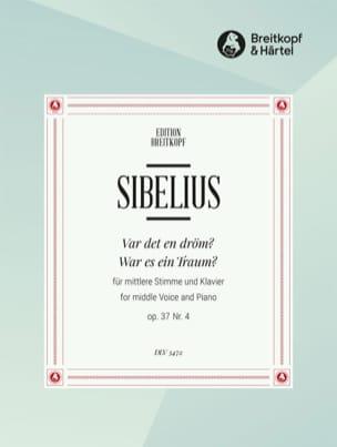 Var Det En Dröm ? Op. 37-4 SIBELIUS Partition Mélodies - laflutedepan