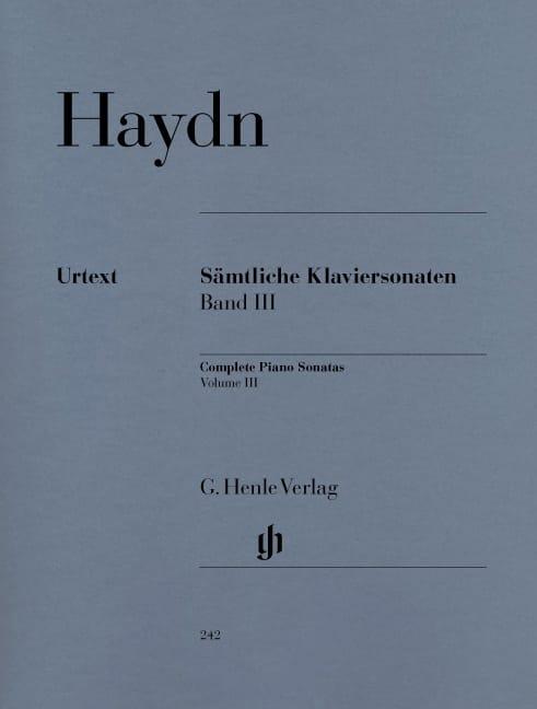 Sonates Complètes Volume 3 - HAYDN - Partition - laflutedepan.com