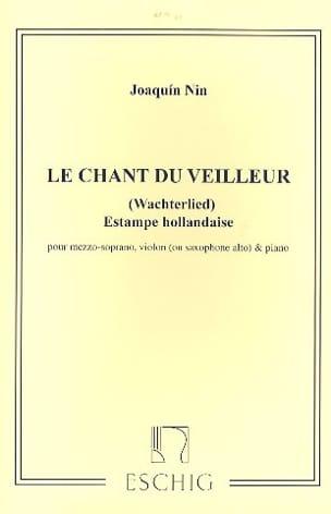 Chant Du Veilleur. Joaquin Nin-Culmell Partition laflutedepan