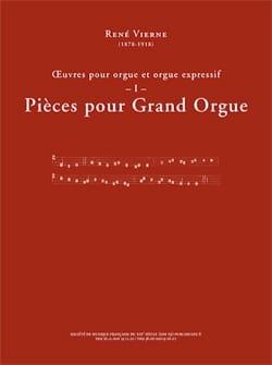 Oeuvres pour orgue. Volume 1 René Vierne Partition laflutedepan