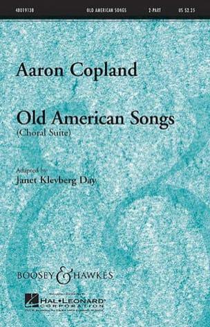 Old american songs choral suite COPLAND Partition Chœur - laflutedepan