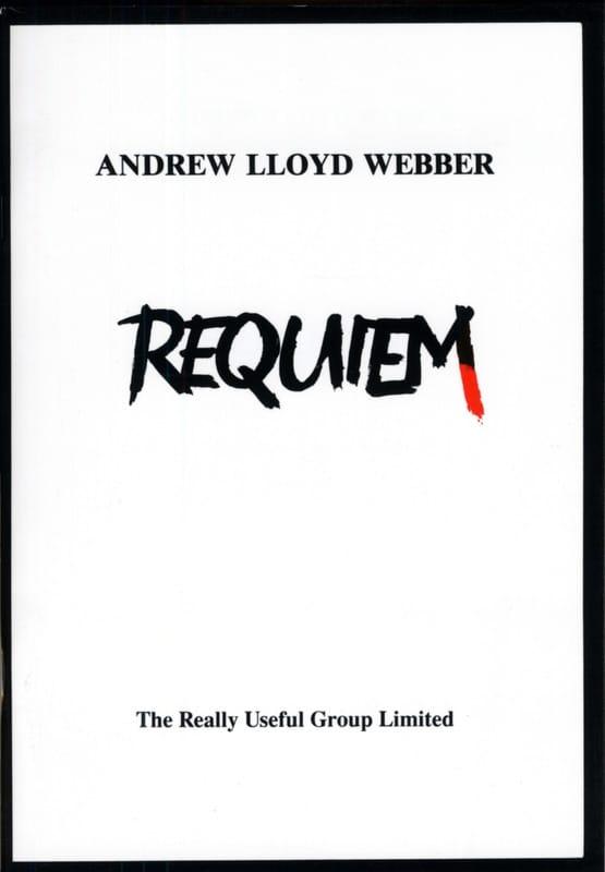 Requiem - Webber Andrew Lloyd - Partition - Chœur - laflutedepan.com