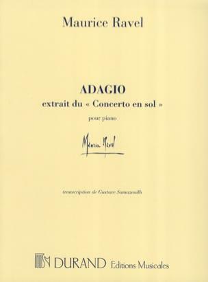 Adagio du Concerto en Sol RAVEL Partition Piano - laflutedepan