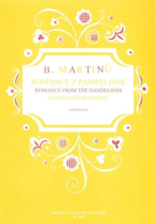 Romance From The Dandelions - MARTINU - Partition - laflutedepan.com