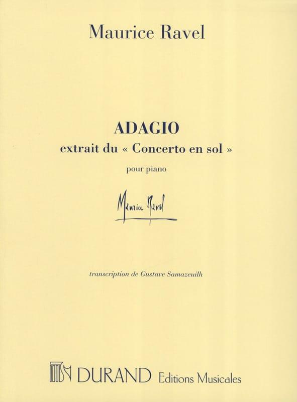 Adagio du Concerto en Sol - RAVEL - Partition - laflutedepan.com