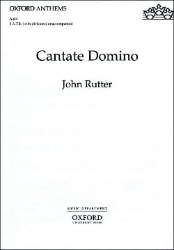 Cantate Domino RUTTER Partition Chœur - laflutedepan