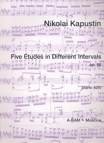 5 Etudes In Different Intervals Opus 68 - laflutedepan.com