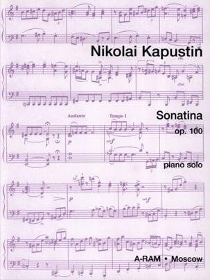 Sonatina Opus 100 Nikolai Kapustin Partition Piano - laflutedepan