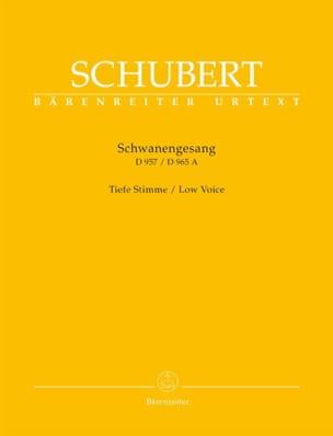 Schwanengesang. Voix grave SCHUBERT Partition Mélodies - laflutedepan