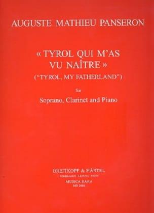 Tyrol Qui M'as Vu Naître - Auguste-Mathieu Panseron - laflutedepan.com