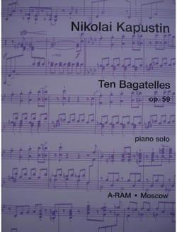 10 Bagatelles Op. 59 Nikolai Kapustin Partition Piano - laflutedepan