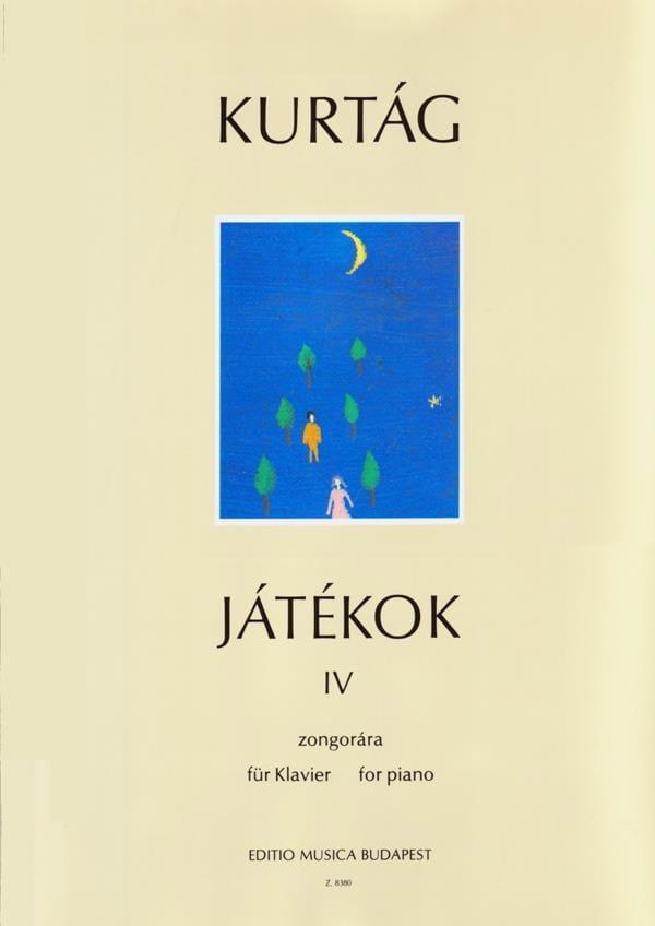 Jatékok Volume 4. 4 Mains - KURTAG - Partition - laflutedepan.com