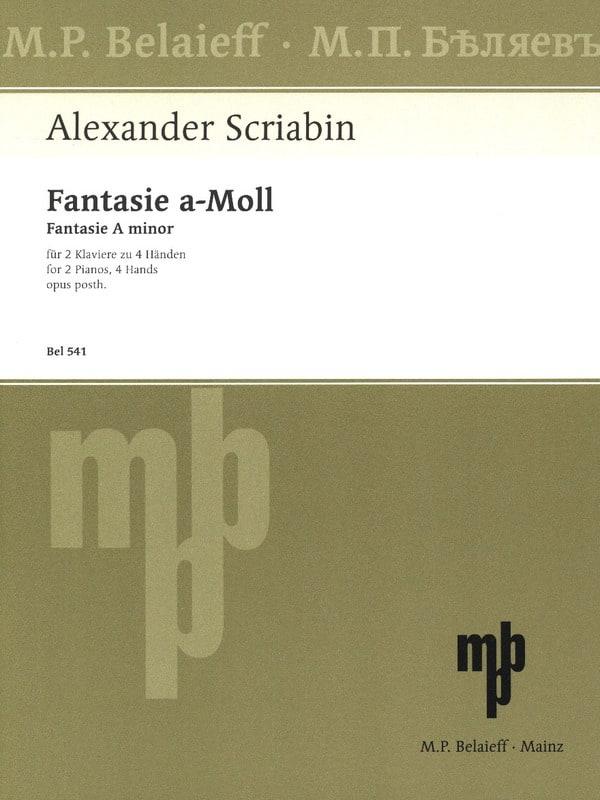 Fantaisie En la Mineur Opus Posthume. 2 Pianos - laflutedepan.com