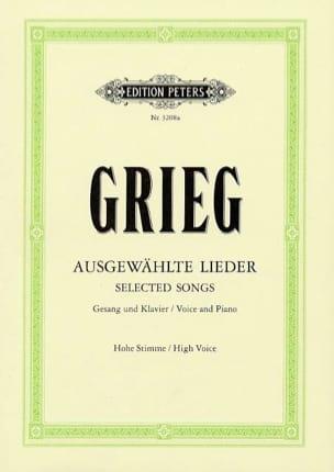 Ausgewählte Lieder Voix Haute - GRIEG - Partition - laflutedepan.com
