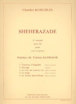 Shéhérazade Recueil N° 1 Opus 56 Charles Koechlin laflutedepan