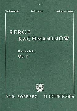 Fantaisie - Opus 7. 4 mains RACHMANINOV Partition Piano - laflutedepan