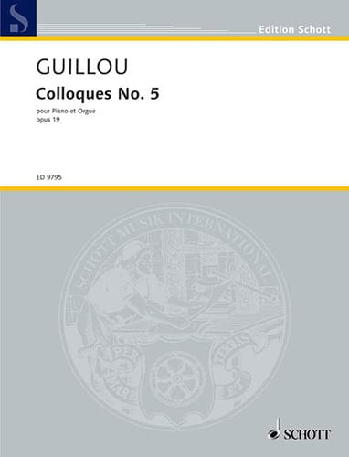 Colloque 5 Opus 19. Piano et Orgue - Jean Guillou - laflutedepan.com