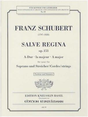 Salve Regina Opus 153 - SCHUBERT - Partition - laflutedepan.com