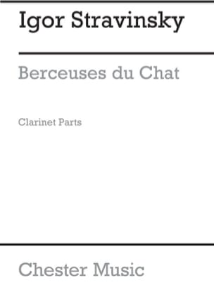 Berceuses Du Chat. 3 Clarinettes STRAVINSKY Partition laflutedepan