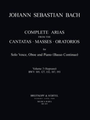Complete arias from the cantatas, masses, oratorios Volume 3 - laflutedepan.com