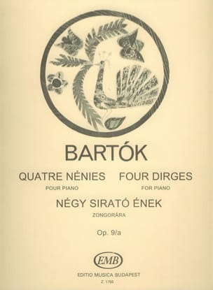 4 Nénies BARTOK Partition Piano - laflutedepan