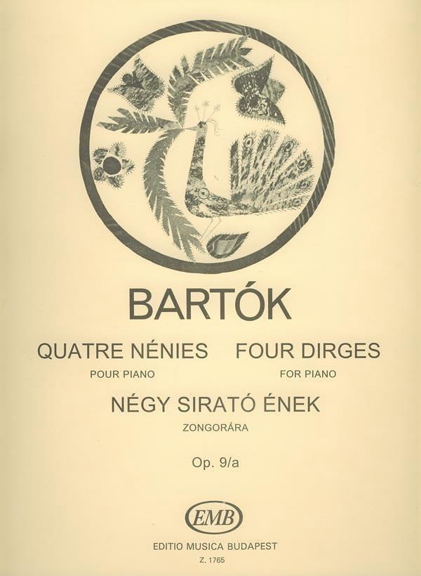4 Nénies - BARTOK - Partition - Piano - laflutedepan.com