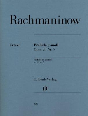 RACHMANINOV - Prelude in G minor Opus 23-5 - Partition - di-arezzo.co.uk